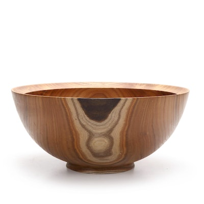 Jim Eliopulos Turned Catalpa Wood Bowl