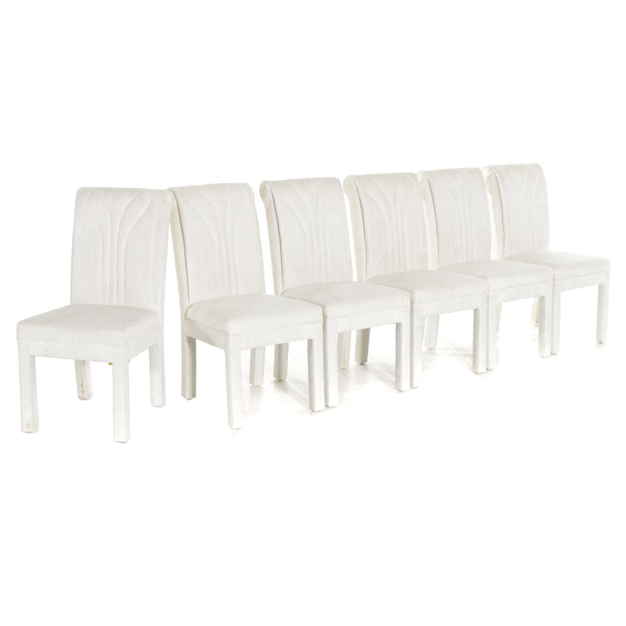 Set of 6 Contemporary Upholstered Dining Chairs
