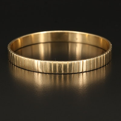 14K Fluted Bangle