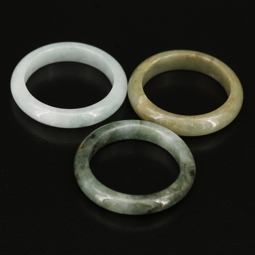 Hololith Jadeite Rings