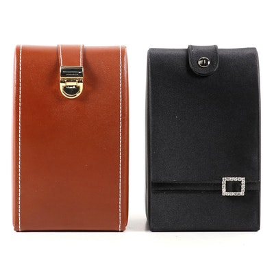 Champ Collection Leather Travel Jewelry Boxes