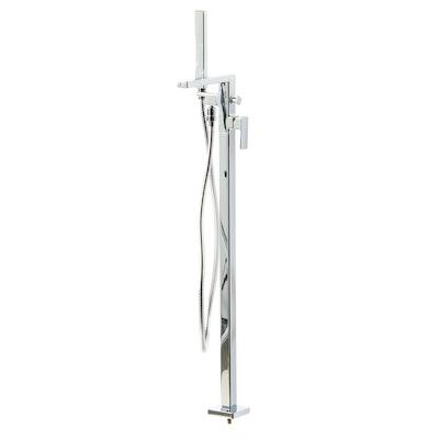 """""""Profili"""" Chrome Freestanding Tub Filler with Hand Shower"""