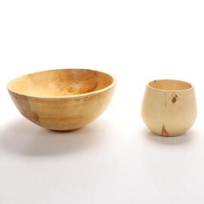 Jim Eliopulous Turned Box Elder Wood Bowls