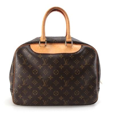 Louis Vuitton Deauville Top Handle Bag in Monogram Canvas
