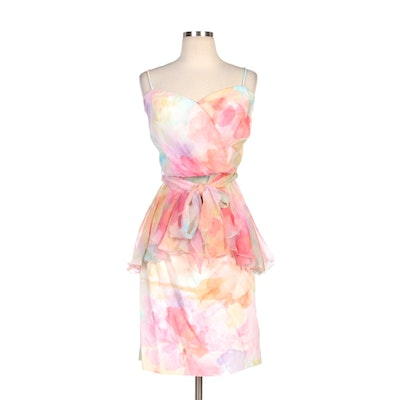 Patricia Rhodes Watercolor Floral Bodice and Skirt