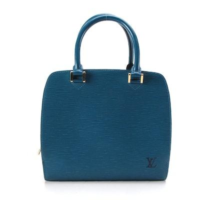 Louis Vuitton Pont Neuf Satchel in Toledo Blue Epi Leather
