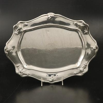 Martelé by Gorham Art Nouveau Silver Platter, Early 20th Century