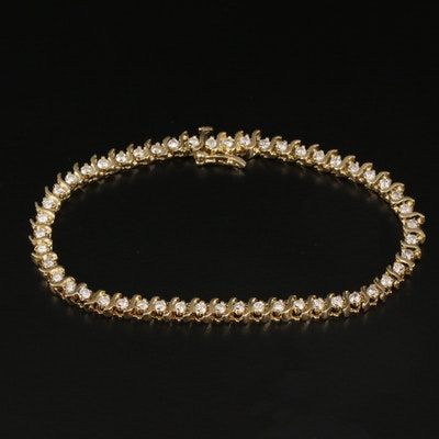 "14K 2.10 CTW Diamond ""S"" Link Bracelet"