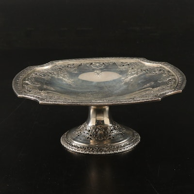 Dominick & Haff Sterling Silver Pierced Pedestal Tray, Late 19th/Early 20th C.