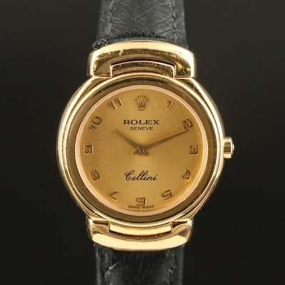 "Circa 1993 Rolex ""Cellini"" 18K Yellow Gold Quartz Wristwatch"