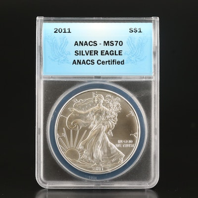 ANACS Graded MS70 Low Mintage 2011-S Silver Eagle