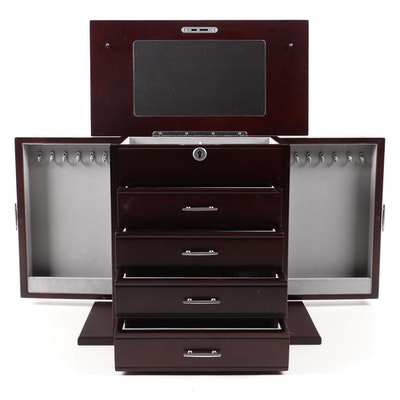 Jere Jewelry Chest with Mahogany Finish