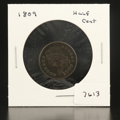 1809 Classic Head Half Cent Coin