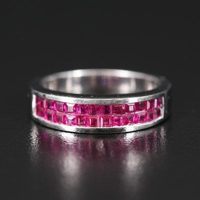 14K Invisible Set Ruby Band