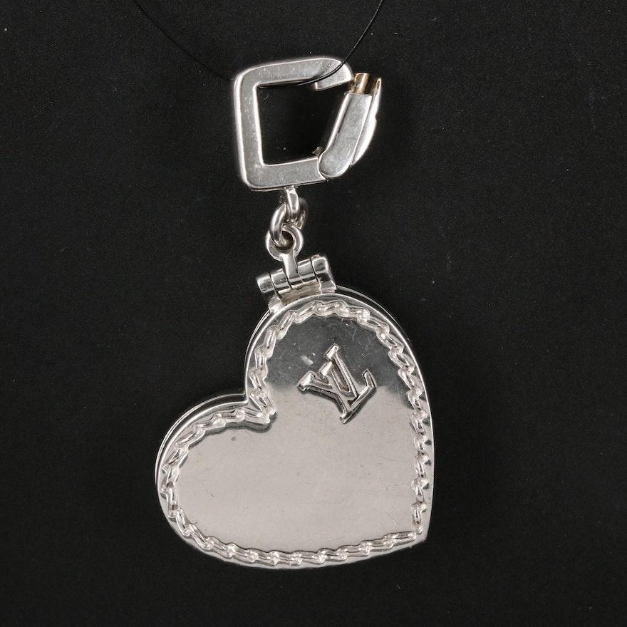 Louis Vuitton 18K Heart Locket Pendant