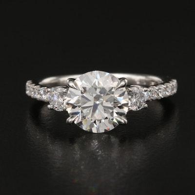 Platinum 2.09 CTW Diamond Ring