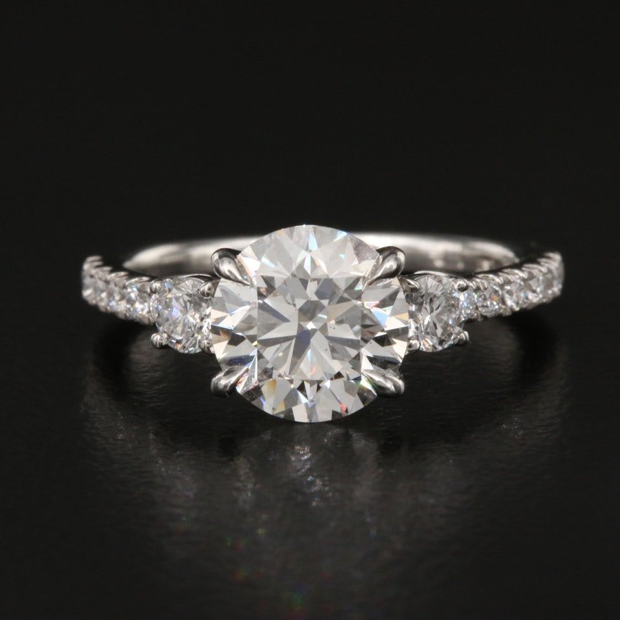 Platinum 2.09 CTW Diamond Ring