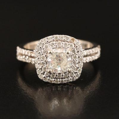 14K 1.52 CTW Diamond Double Halo Ring