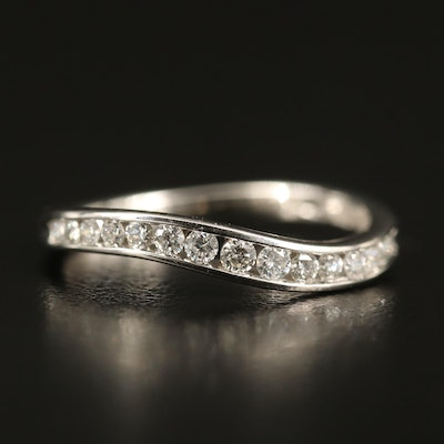 14K Diamond Channel Contour Band