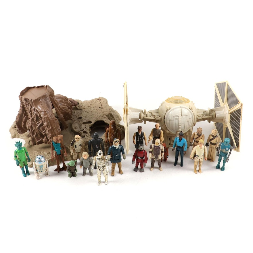 Star Wars Toys Action Figures and TIE Fighter
