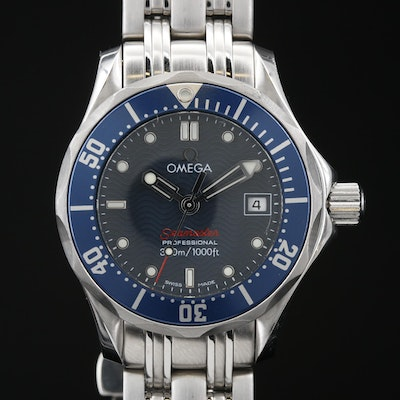 "Omega ""Seamaster"" Professional 300 Meters with Date Stainless Steel Wristwatch"