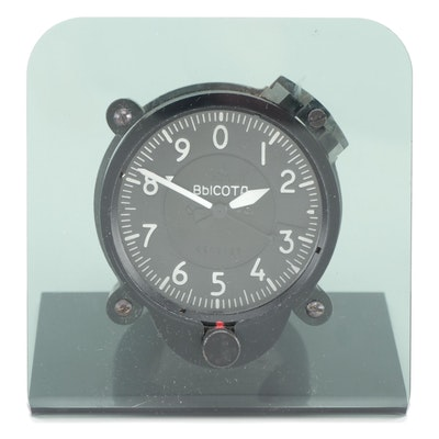 Russian Aircraft Altimeter Gauge