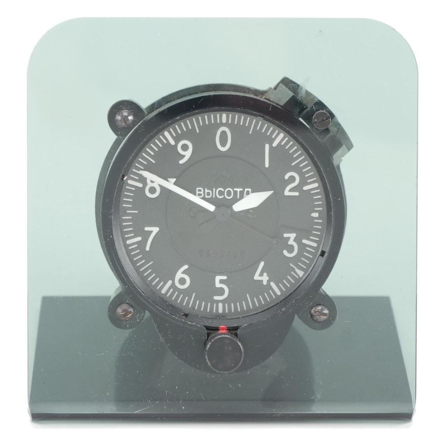 Russian Aircraft Altimeter Gauge