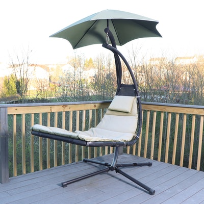"""Vivere """"Dream Chair"""" on Stand with Umbrella"""