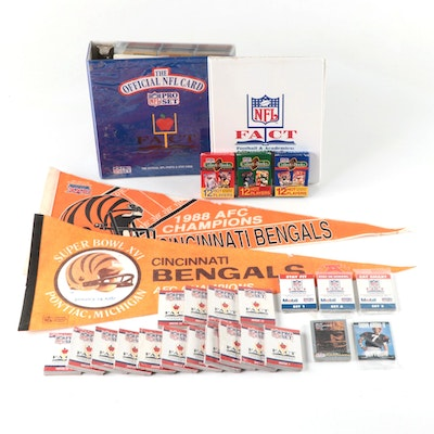 Assortment of Football Collectibles