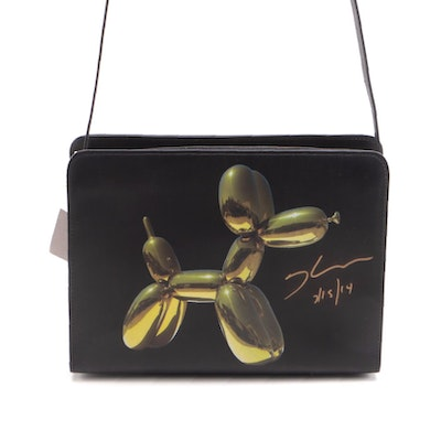 "Signed Jeff Koons for H&M ""Balloon Dog"" Leather Bag in Case"