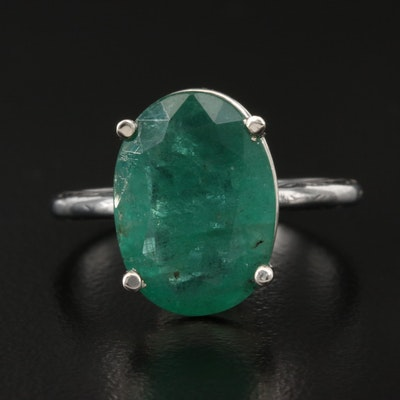 18K 5.53 CT Emerald Ring