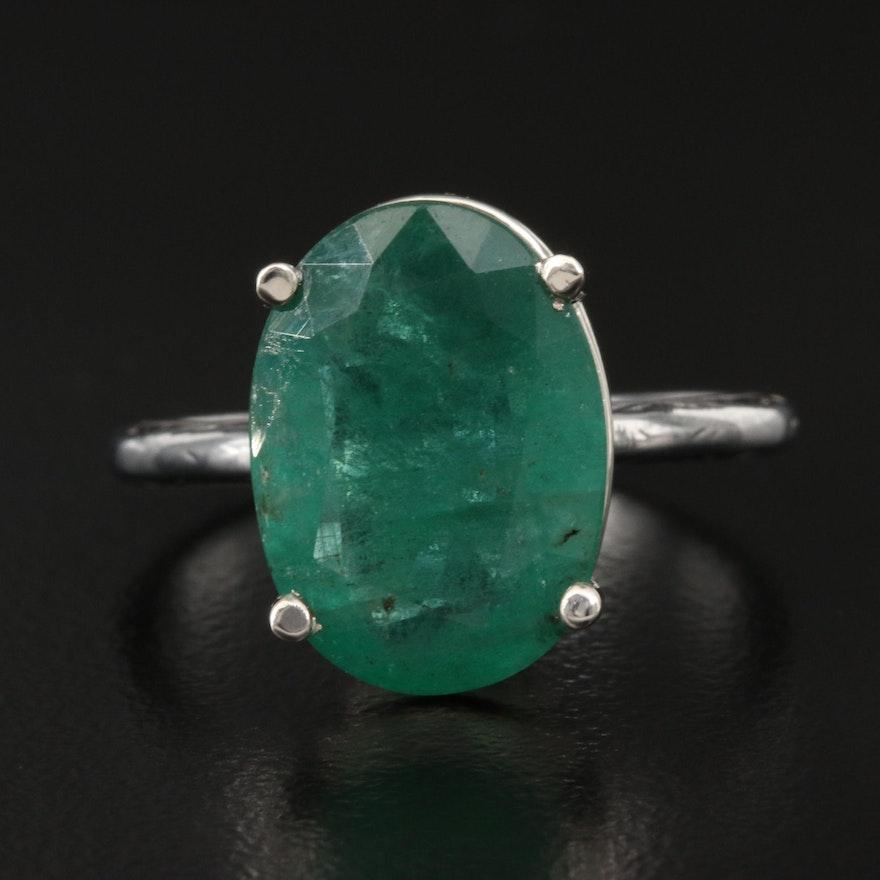 18K 5.53 CT Emerald Ring