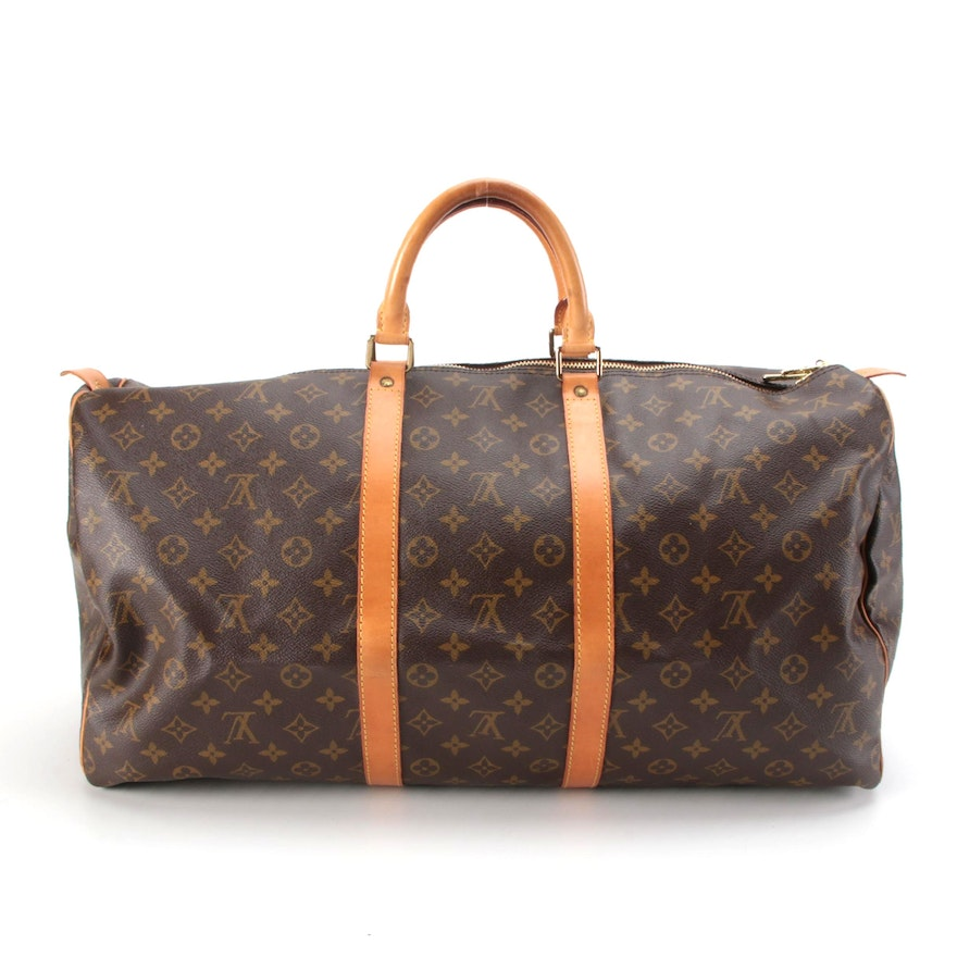 Louis Vuitton Keepall 55 Duffel Bag in Monogram Canvas