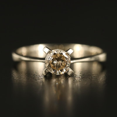 14K 0.43 CT Diamond Solitaire Ring