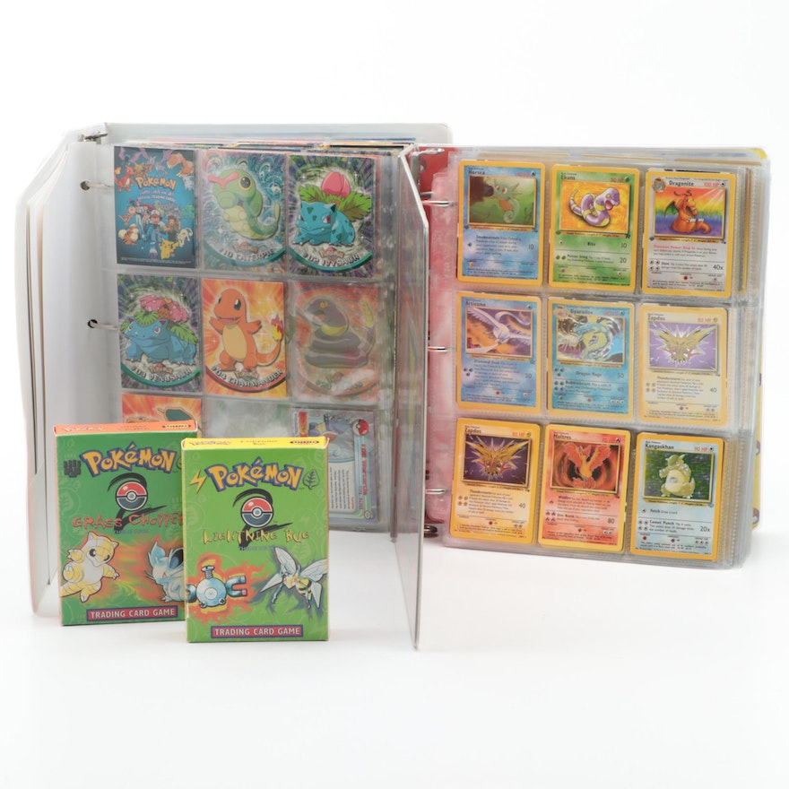 Collection of Pokémon Cards, Includes Japanese, 1990s Issues, and First Editions