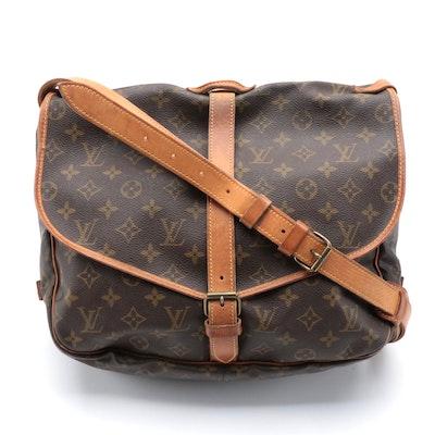 Louis Vuitton Malletier Saumur 35 Messenger Bag in Monogram Canvas