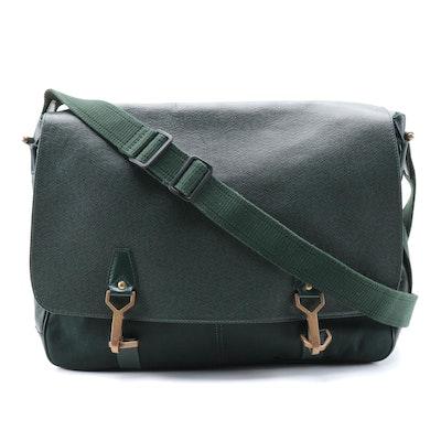 Louis Vuitton Dersou Messenger Bag in Green Epicea Taïga Leather