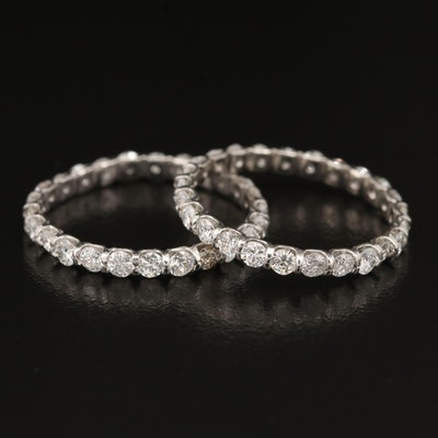 Platinum 2.00 CTW Diamond Eternity Bands