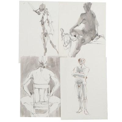 John Tuska Figural Drawings, Late 20th Century