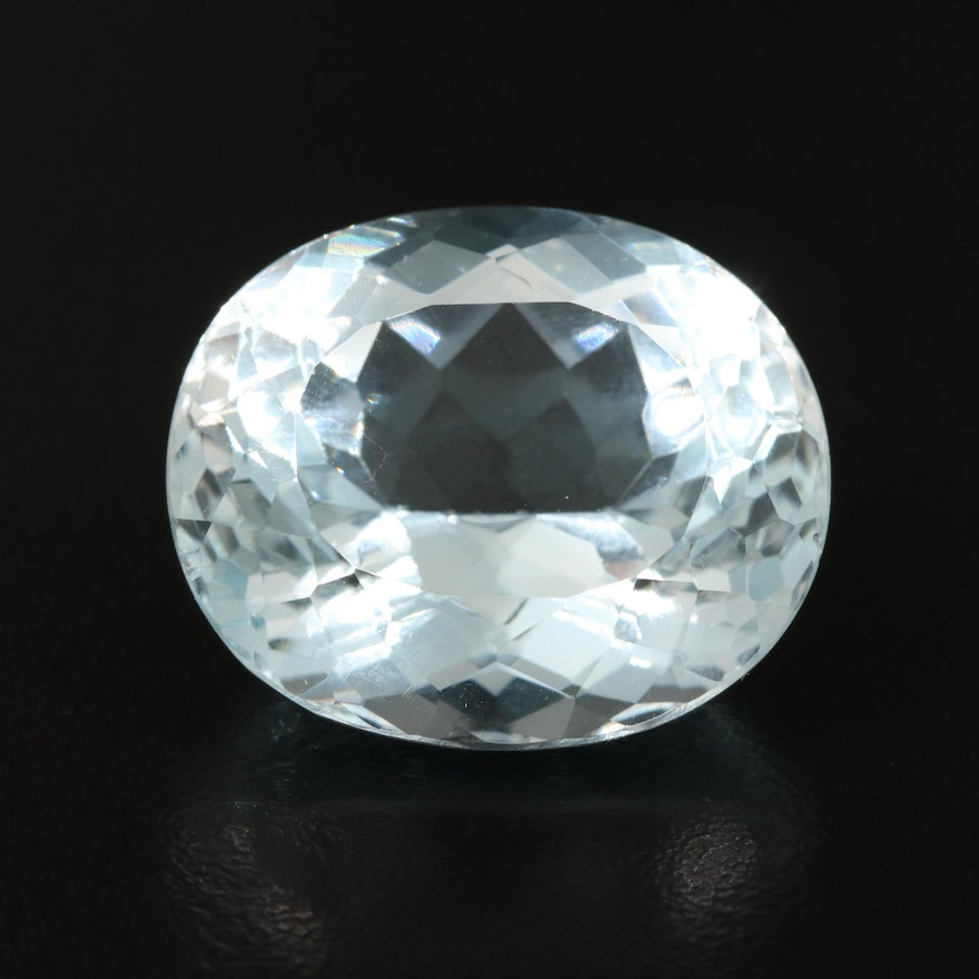 Loose 49.15 CT Oval Faceted Topaz