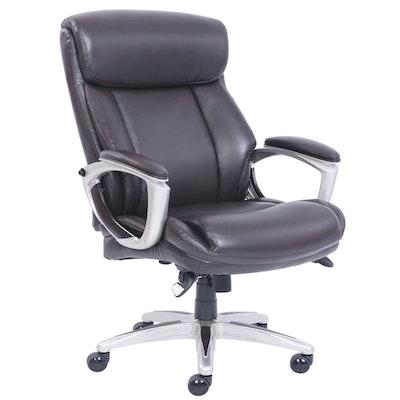 "La-Z-Boy ""Alston"" Black Bonded Leather Big & Tall Executive Chair"