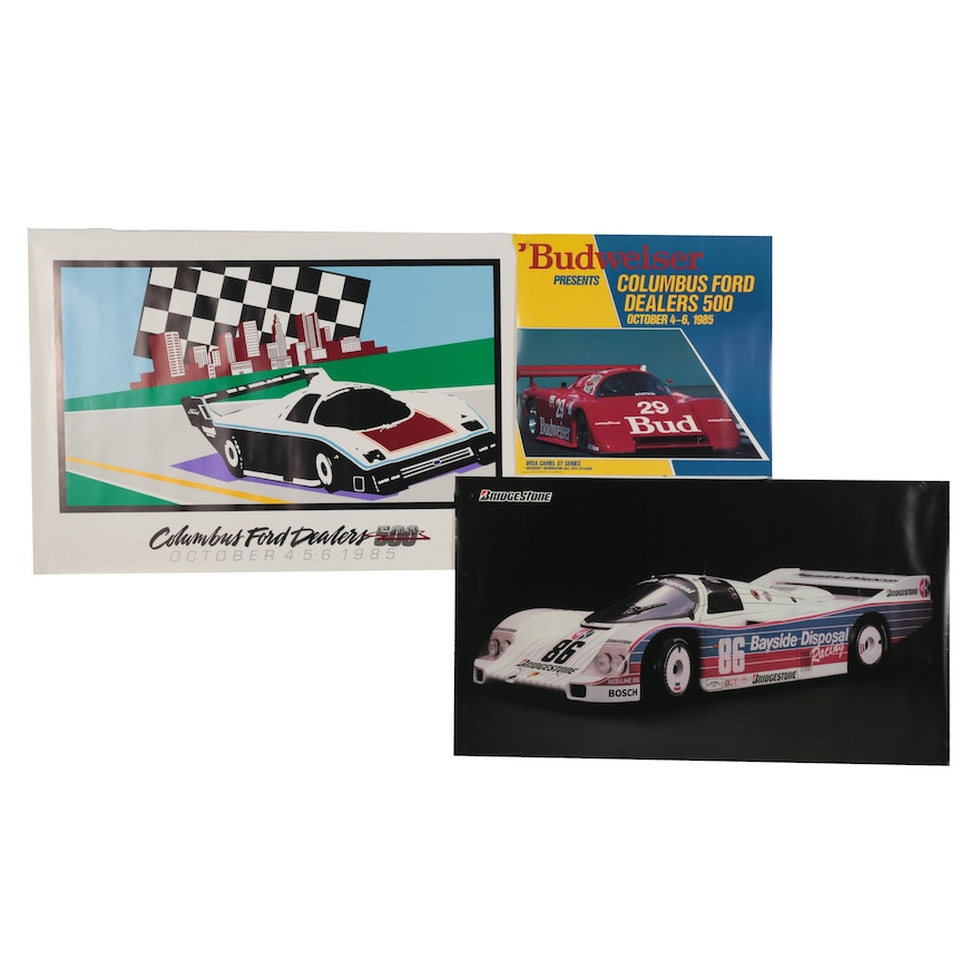 Lithograph and Offset Lithograph Car Event Posters and Advertisement