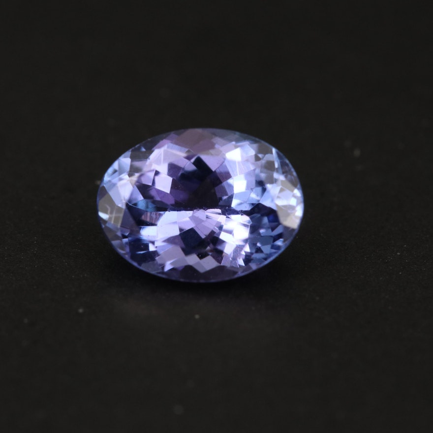 Loose 1.50 CT Oval Faceted Tanzanite
