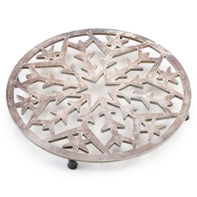 Italian Silver-Plated Snowflake Trivet