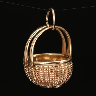 Elliot Glenaan 14K Nantucket Oval Basket Charm