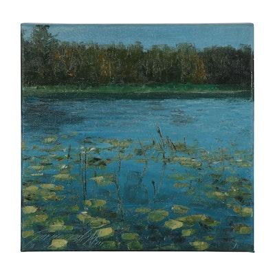 "Garncarek Aleksander Oil Painting ""Jeziorko,"" 2021"