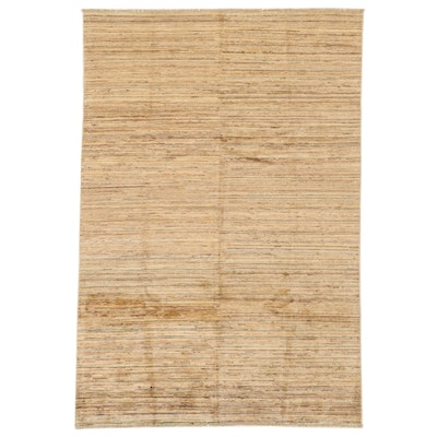 5'3 x 7'10 Hand-Knotted Afghan Gabbeh Wool Area Rug