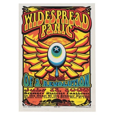 """Drowning Creek Studio Giclée Poster for """"Widespread Panic"""" and """"Of a Revolution"""""""