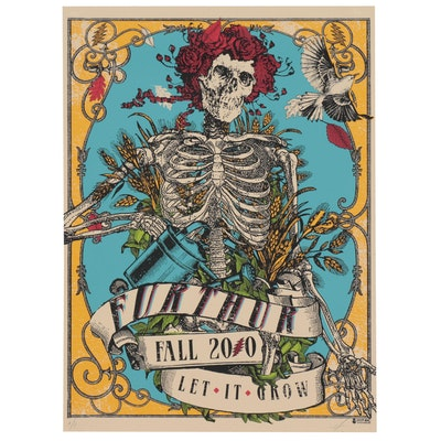 "Grateful Dead Serigraph Poster ""Further Fall 2010 Let it Grow"" 2010"
