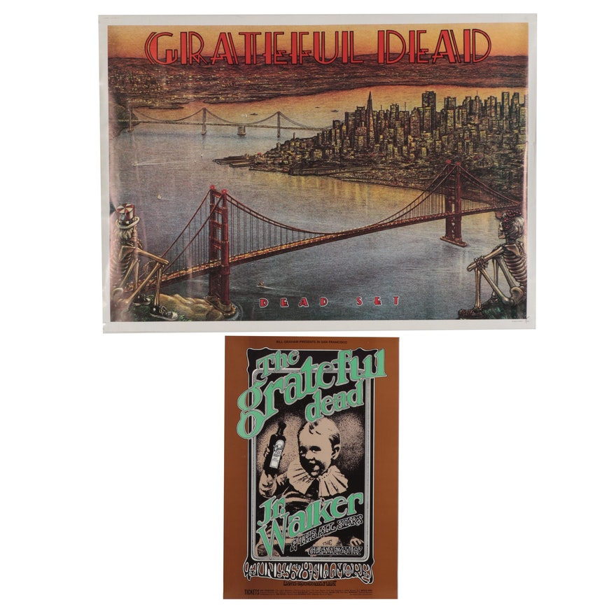 Grateful Dead Posters after Randy Tuten, Dennis Larkins, and Peter Barsotti
